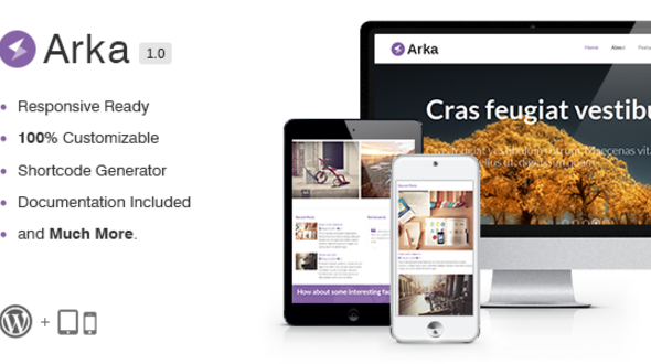 Arka – Responsive WordPress Theme