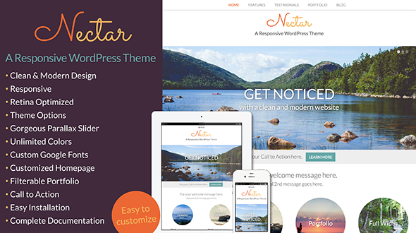 Nectar – A Responsive WordPress Theme