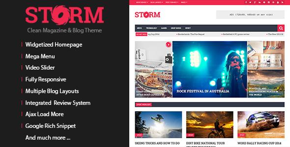 Storm – Clean Magazine & Blog Theme