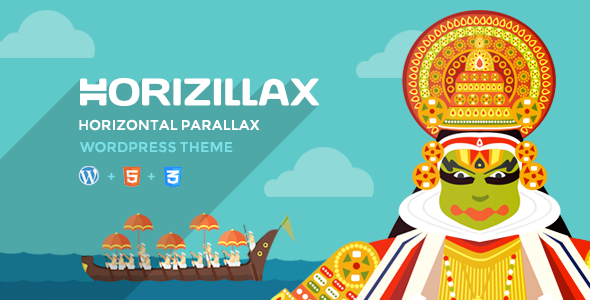 Horizillax – Horizontal Parallax WordPress Theme