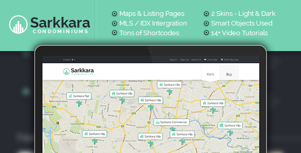 Sarkkara Responsive Real Estate WordPress Template