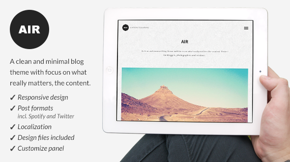 Air – Responsive WordPress Blog Theme