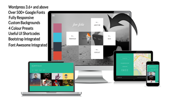 Fun Folio Responsive WordPress Theme