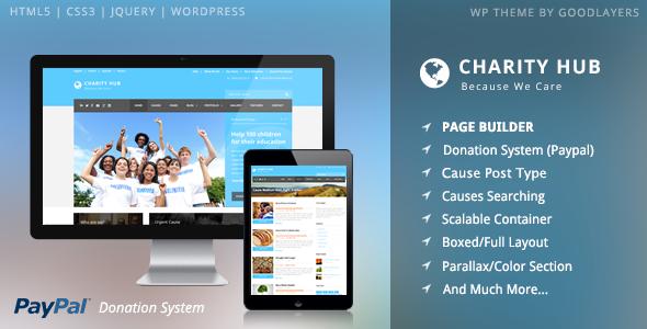Charity Hub – Charity / Nonprofit / Fundraising WP