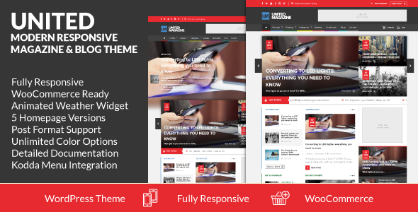 United – Modern Responsive Magazine & Blog Theme