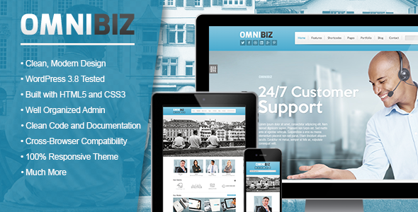 Omnibiz – Elegant Corporate WordPress Theme
