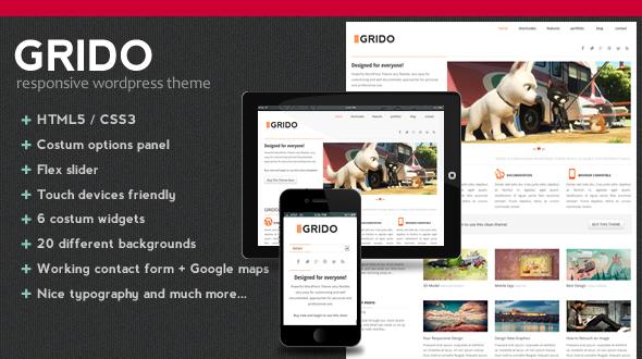 Grido – Responsive WordPress Theme