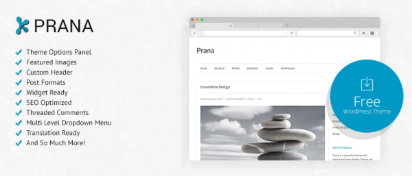 Prana: Free WordPress Theme