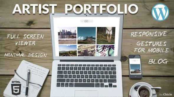 Artist Portfolio · Responsive WordPress Theme, for show creative work