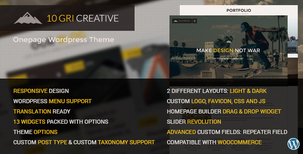 10GriCreative Responsive Onepage WordPress Theme