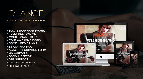 Glance – Coming Soon WordPress Theme