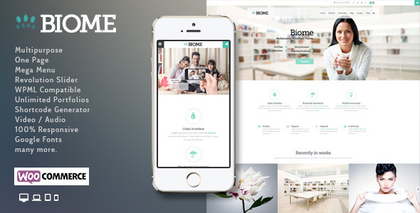 Biome – Multipurpose One Page WordPress Theme