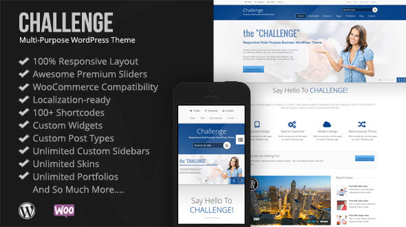 Challenge – Powerful Premium WordPress Theme
