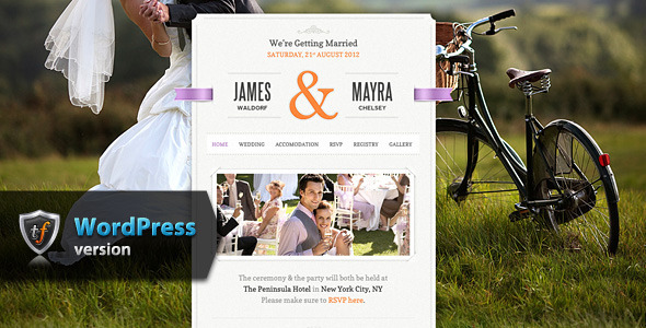 Just Married – Wedding WordPress Theme