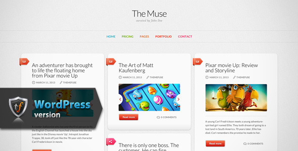 The Muse – Inspiration WordPress Theme