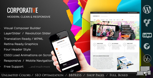 Corporative – Multipurpose WordPress Theme