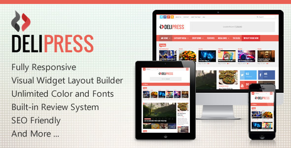 Delipress – Magazine and Review WordPress Theme