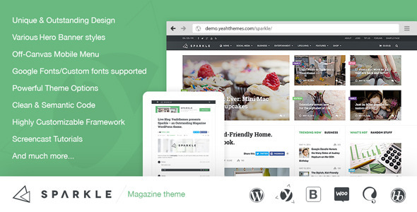 Sparkle – Outstanding Magazine theme for WordPress