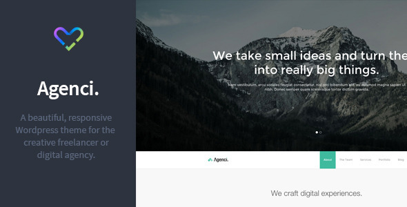 Agenci – One Page Responsive WordPress Theme