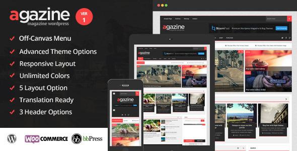Agazine – Premium Retina Magazine WordPress Theme
