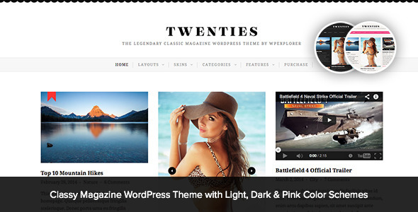Twenties – Clean, Responsive Blog WordPress Theme
