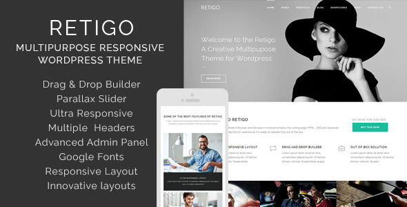 Retigo Creative Multipurpose WordPress Theme