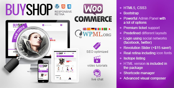 BuyShop – Responsive WooCommerce WordPress Theme