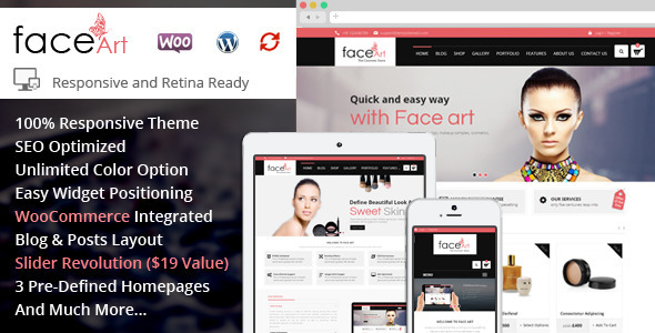 Face Art – WooCommerce Responsive Theme