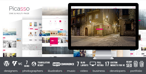 Picasso – Responsive Multi-Purpose WordPress Theme