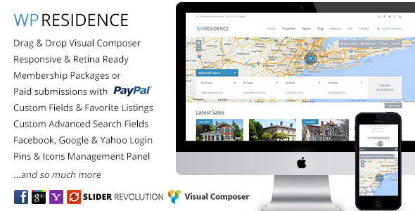 WP Residence – Real Estate WordPress Theme