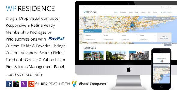 WP Residence – Real Estate WordPress Theme