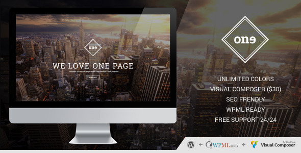 One – One Page Retina WordPress Theme
