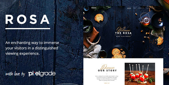 ROSA – An Exquisite Restaurant WordPress Theme