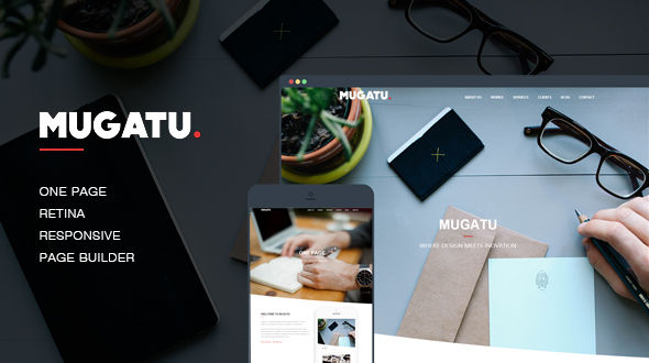 Mugatu – One Page Multi-purpose WordPress Theme