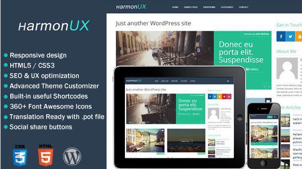 HarmonUX – Clean & Responsive UX-focused WordPress Theme