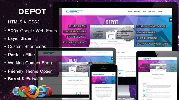 Depot – A Responsive Corporate Business Theme
