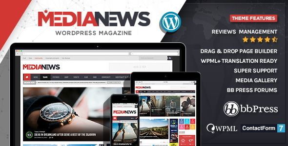 MediaNews – WordPress News Magazine Blog Theme