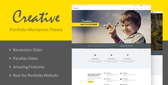 Creative – OnePage Portfolio WordPress Theme