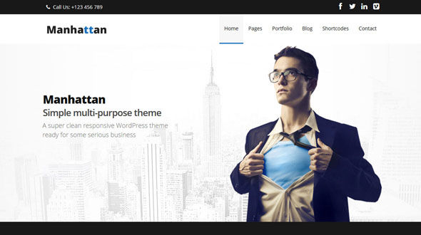 Manhattan | Multi-Purpose WordPress Theme