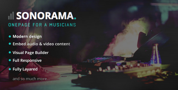 Sonorama – Music Band & Musician WordPress Theme
