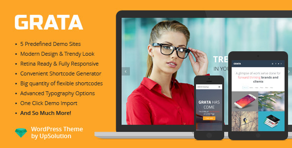 GRATA – Multi-Purpose One Page WordPress Theme
