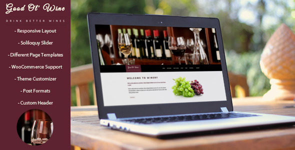 Good Ol` Wine – Wine & Winery WordPress Theme