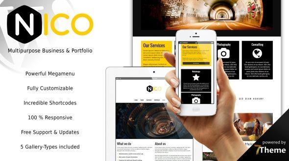 Nico – a powerful WordPress Business & Portfolio Theme