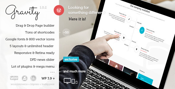 Gravity – Multi-Purpose Creative WordPress Theme