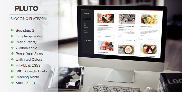 Pluto – Clean Personal WordPress Blog Theme