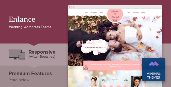 Enlance – Responsive Wedding Event WordPress Theme