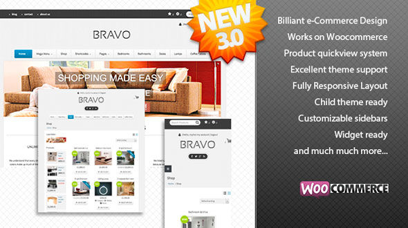 Bravo WordPress Theme – A WordPress e-Commerce Theme