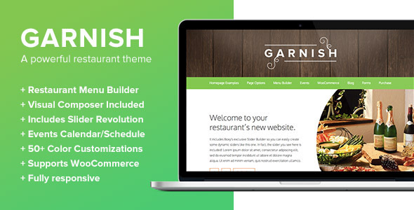 Garnish – A WordPress Theme for Restaurants