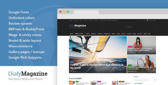 DialyMagazine – Clean & Flat Magazine Theme