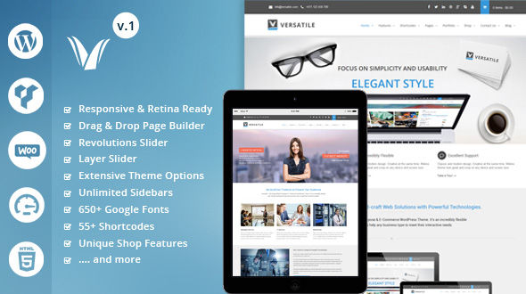 Versatile – Ultra Responsive & Multipurpose WordPress Theme